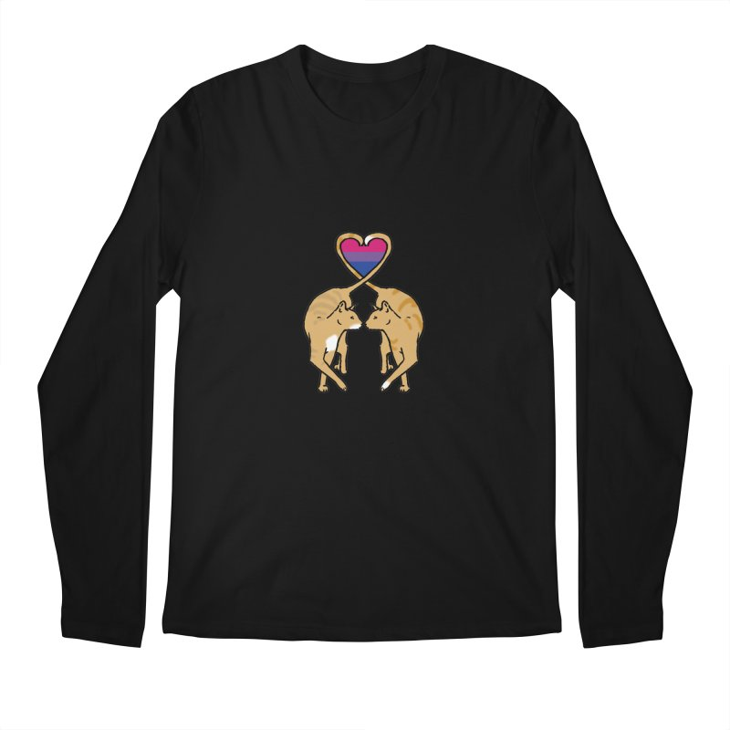 Bi Pride - Love Cats Men's Longsleeve T-Shirt by alrkeaton's Artist Shop