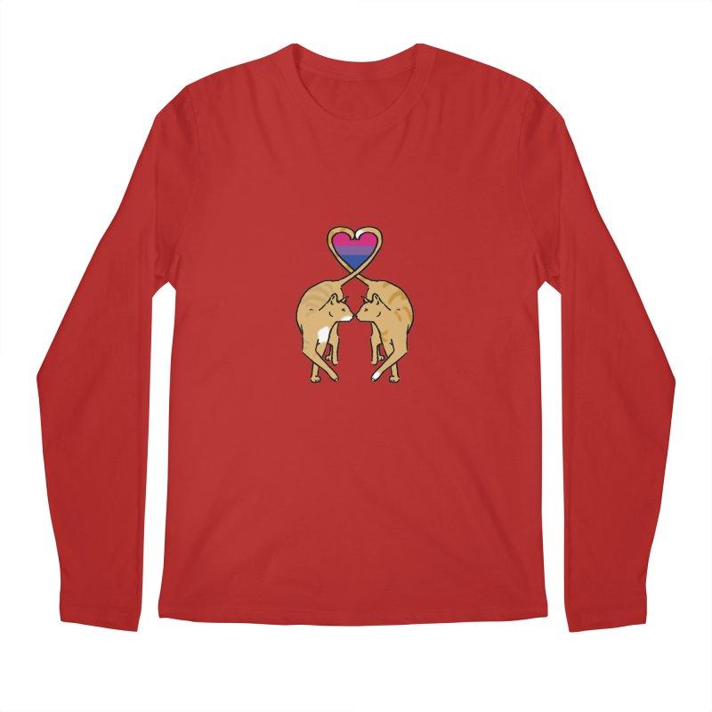 Bi Pride - Love Cats Men's Longsleeve T-Shirt by alrkeaton's Artist Shop
