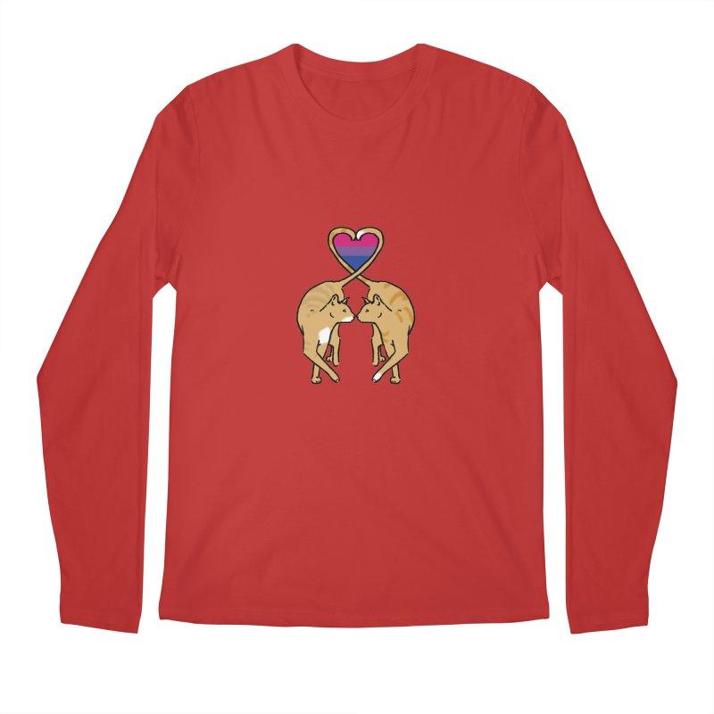 Bi Pride - Love Cats Men's Regular Longsleeve T-Shirt by alrkeaton's Artist Shop