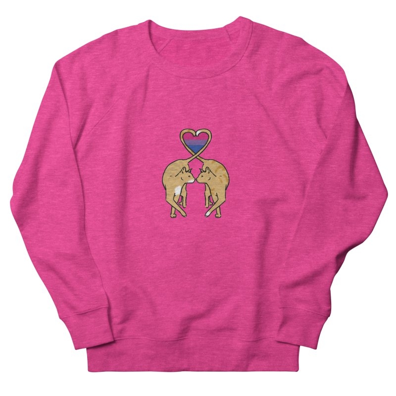 Bi Pride - Love Cats Women's French Terry Sweatshirt by alrkeaton's Artist Shop