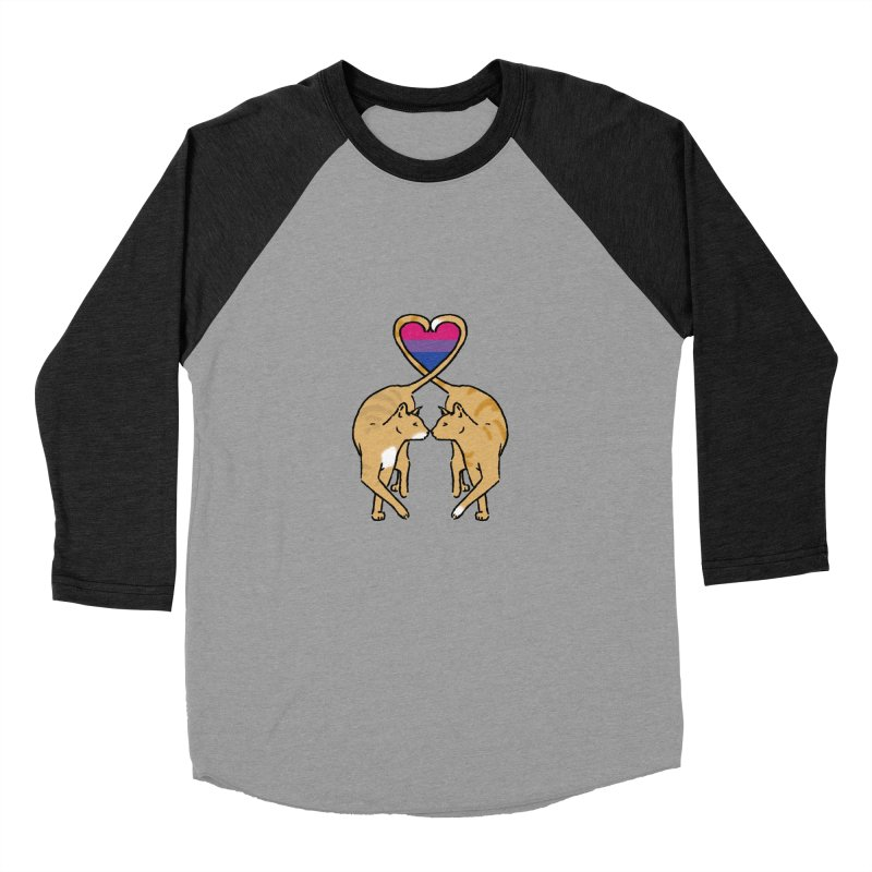 Bi Pride - Love Cats Men's Baseball Triblend T-Shirt by alrkeaton's Artist Shop