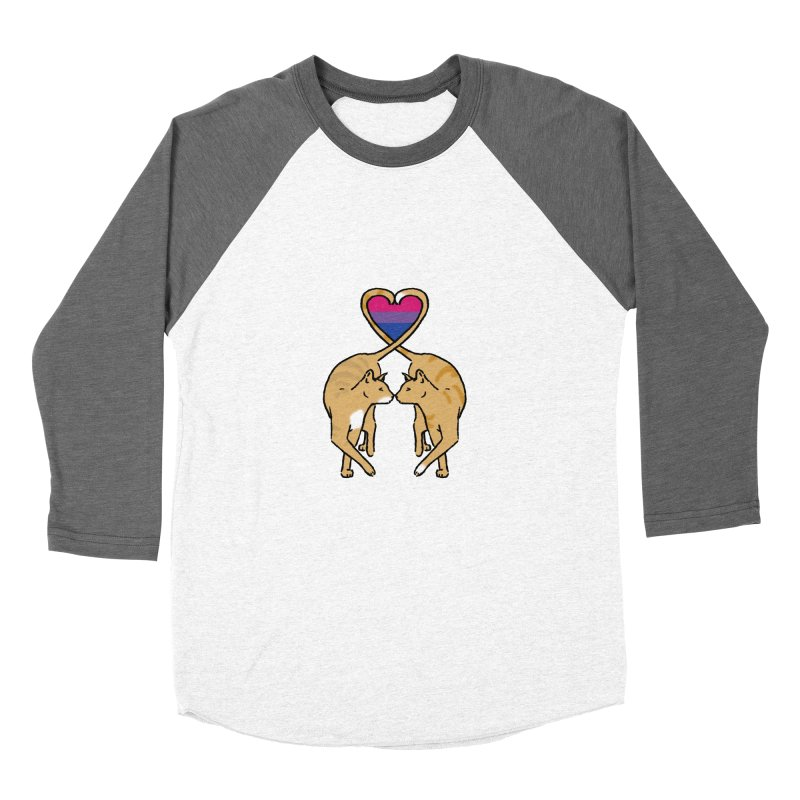 Bi Pride - Love Cats Men's Baseball Triblend Longsleeve T-Shirt by alrkeaton's Artist Shop