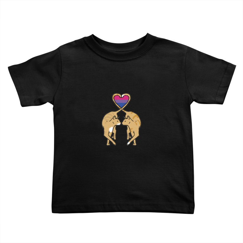 Bi Pride - Love Cats Kids Toddler T-Shirt by alrkeaton's Artist Shop