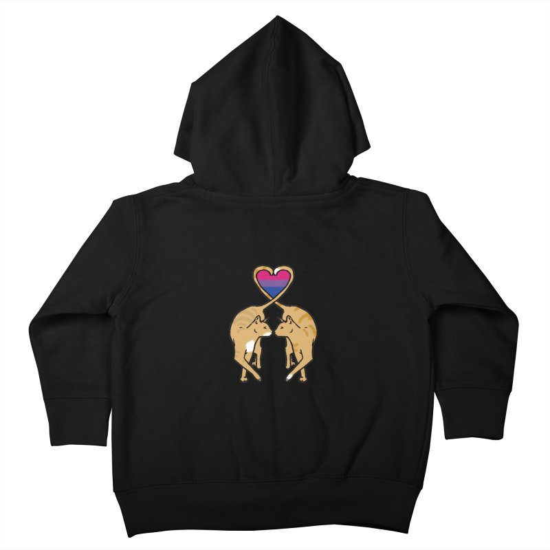 Bi Pride - Love Cats Kids Toddler Zip-Up Hoody by alrkeaton's Artist Shop