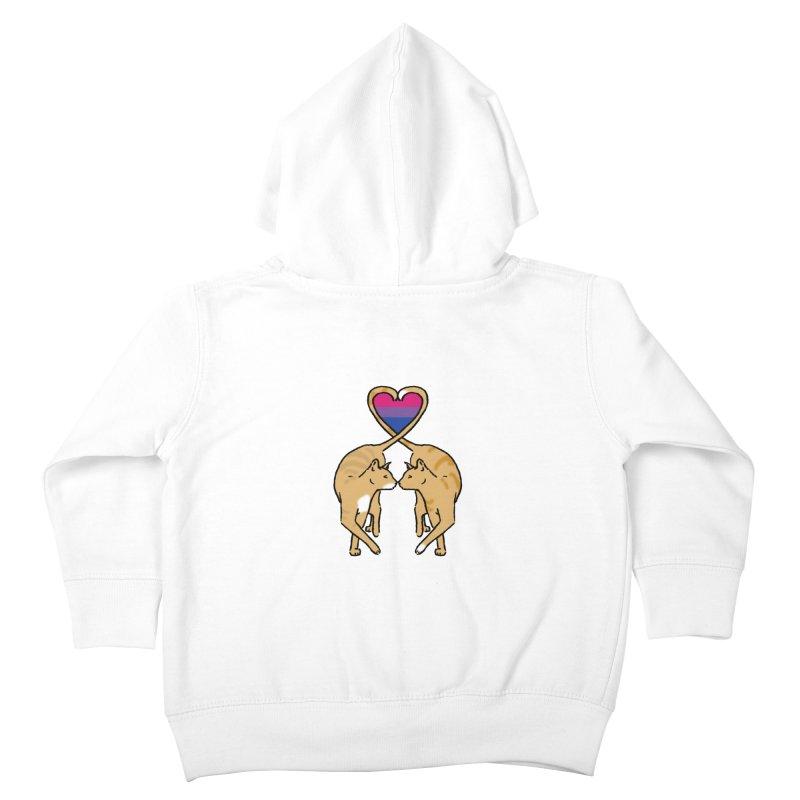 Bi Pride - Love Cats Kids Toddler Zip-Up Hoody by alrkeaton's Artist Shop