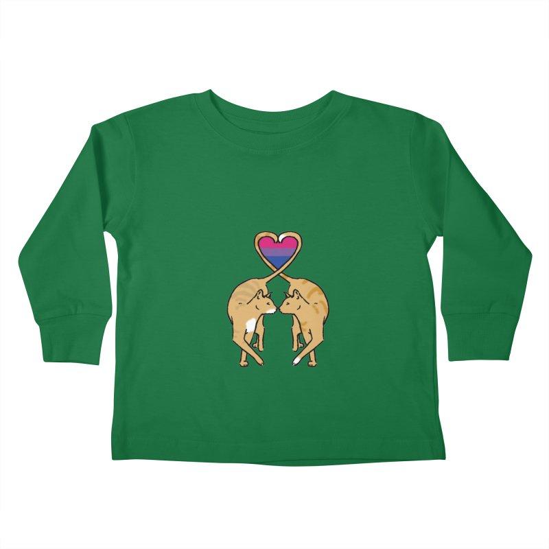 Bi Pride - Love Cats Kids Toddler Longsleeve T-Shirt by alrkeaton's Artist Shop