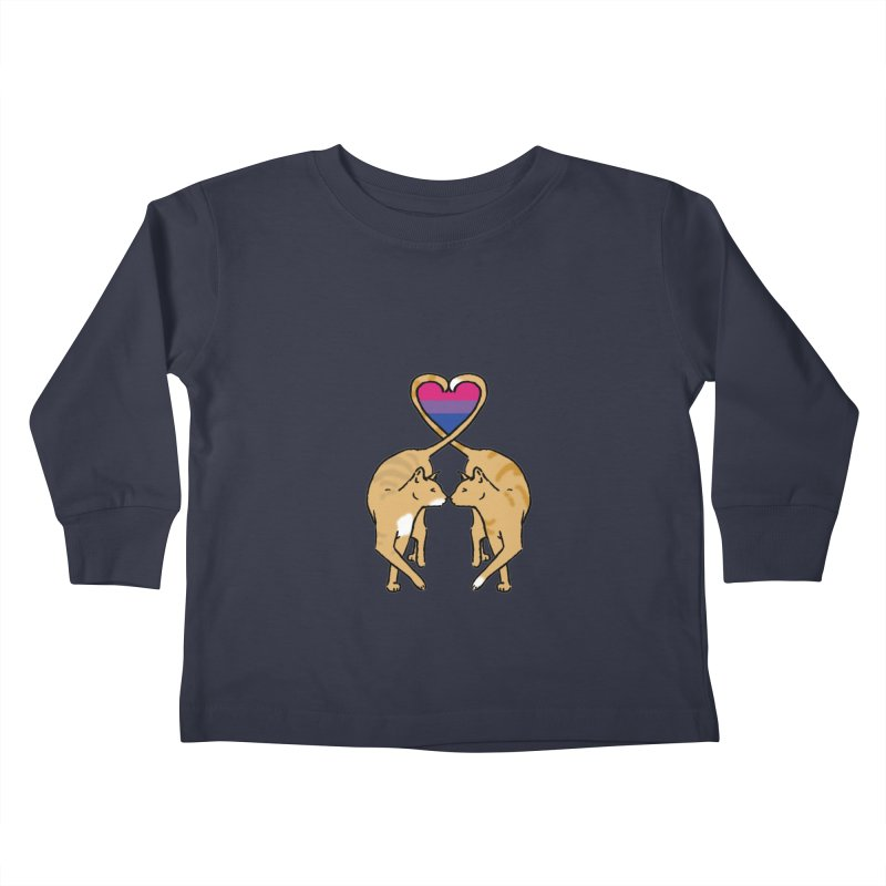 Bi Pride - Love Cats Kids Toddler Longsleeve T-Shirt by alrkeaton's Artist Shop