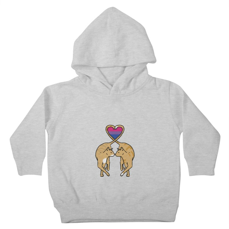 Bi Pride - Love Cats Kids Toddler Pullover Hoody by alrkeaton's Artist Shop