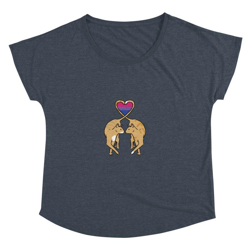 Bi Pride - Love Cats Women's Dolman Scoop Neck by alrkeaton's Artist Shop