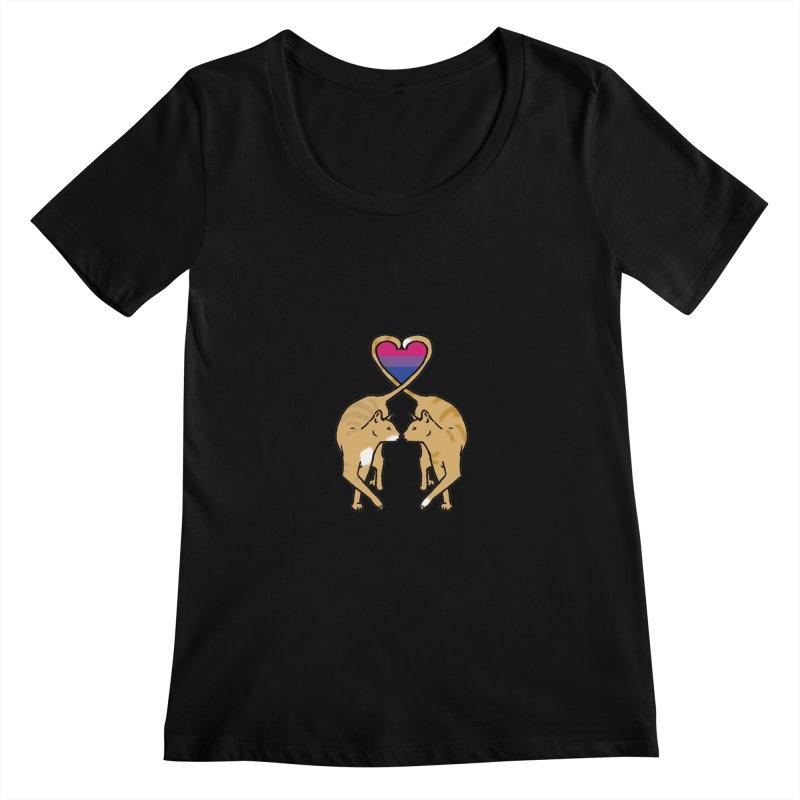 Bi Pride - Love Cats Women's Scoopneck by alrkeaton's Artist Shop