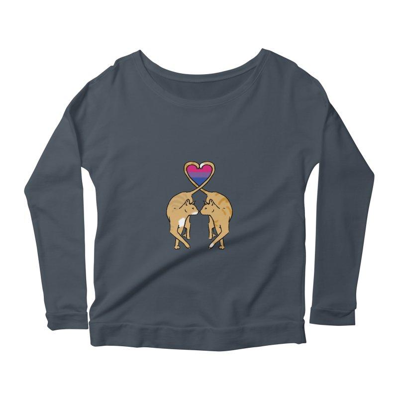 Bi Pride - Love Cats Women's Scoop Neck Longsleeve T-Shirt by alrkeaton's Artist Shop