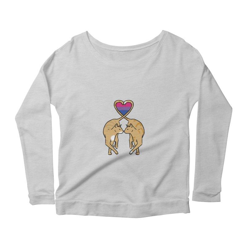 Bi Pride - Love Cats Women's Longsleeve Scoopneck  by alrkeaton's Artist Shop