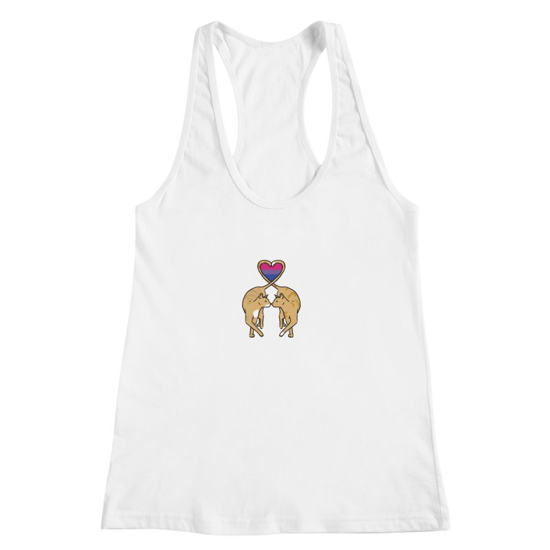 Bi Pride - Love Cats Women's Racerback Tank by alrkeaton's Artist Shop