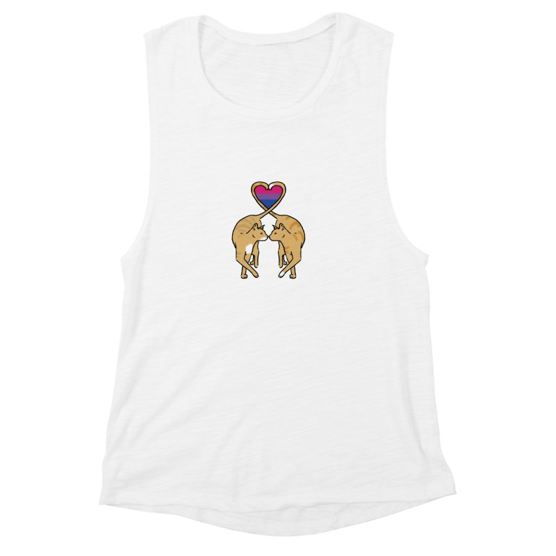 Bi Pride - Love Cats Women's Muscle Tank by alrkeaton's Artist Shop