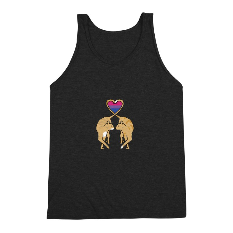 Bi Pride - Love Cats Men's Triblend Tank by alrkeaton's Artist Shop