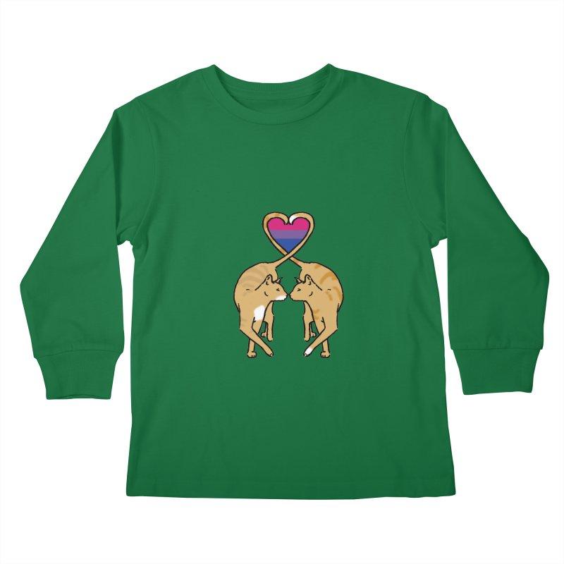 Bi Pride - Love Cats Kids Longsleeve T-Shirt by alrkeaton's Artist Shop
