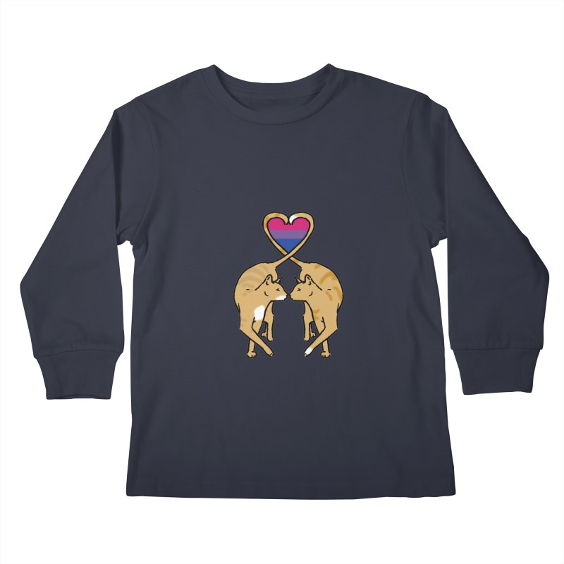 Bi Pride - Love Cats Kids Longsleeve T-Shirt by alrkeaton's Artist Shop