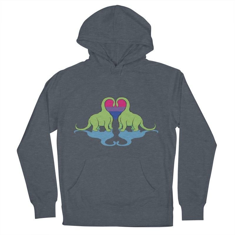 Bi Pride - Dino Love Women's Pullover Hoody by alrkeaton's Artist Shop