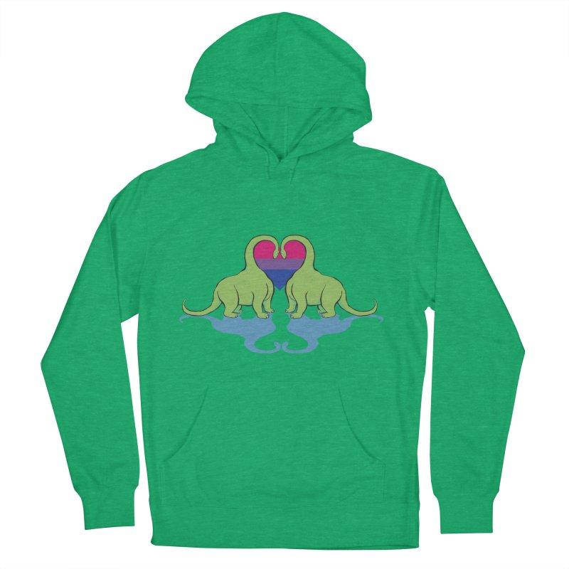 Bi Pride - Dino Love Men's Pullover Hoody by alrkeaton's Artist Shop