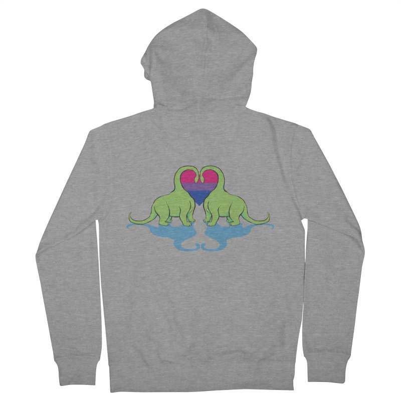 Bi Pride - Dino Love Women's French Terry Zip-Up Hoody by alrkeaton's Artist Shop