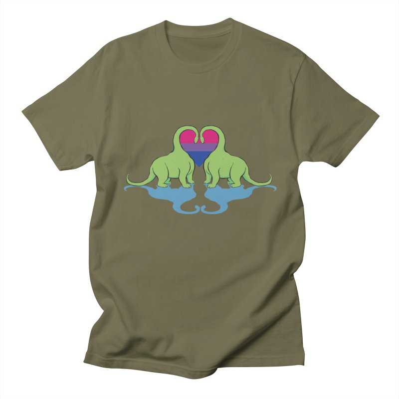 Bi Pride - Dino Love Men's T-Shirt by alrkeaton's Artist Shop