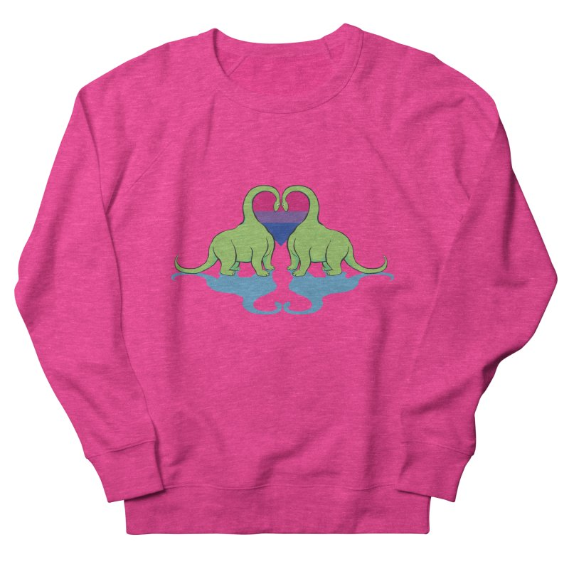 Bi Pride - Dino Love Women's Sweatshirt by alrkeaton's Artist Shop