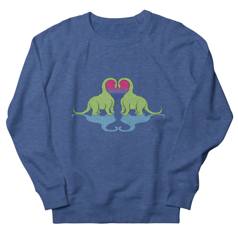 Bi Pride - Dino Love Men's Sweatshirt by alrkeaton's Artist Shop