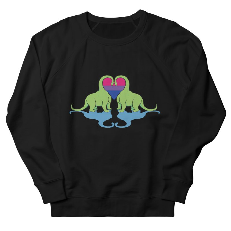 Bi Pride - Dino Love Men's Sweatshirt by alrkeaton's Artist Shop