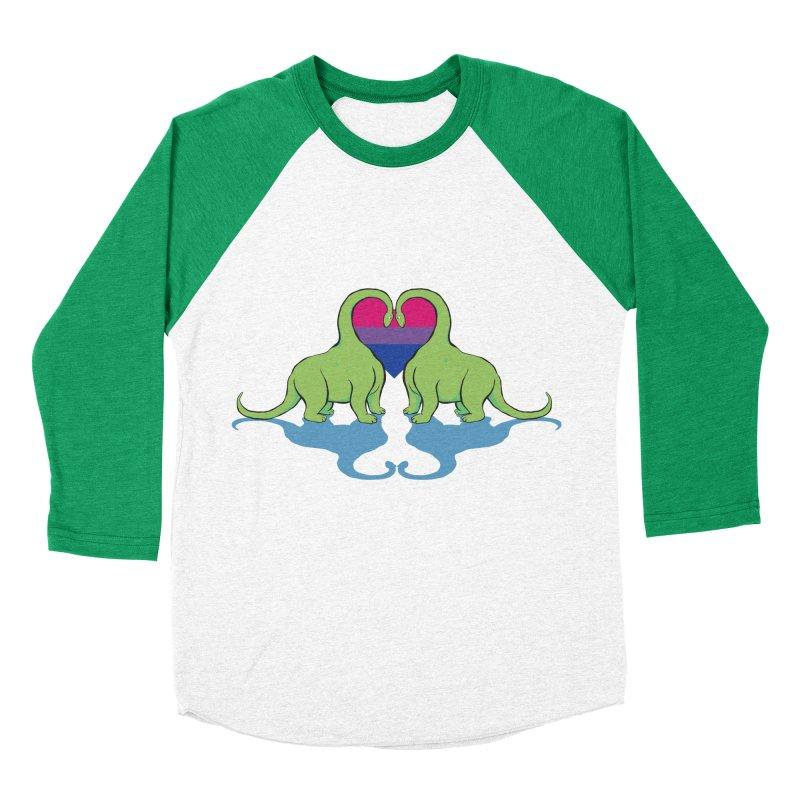 Bi Pride - Dino Love Men's Baseball Triblend T-Shirt by alrkeaton's Artist Shop