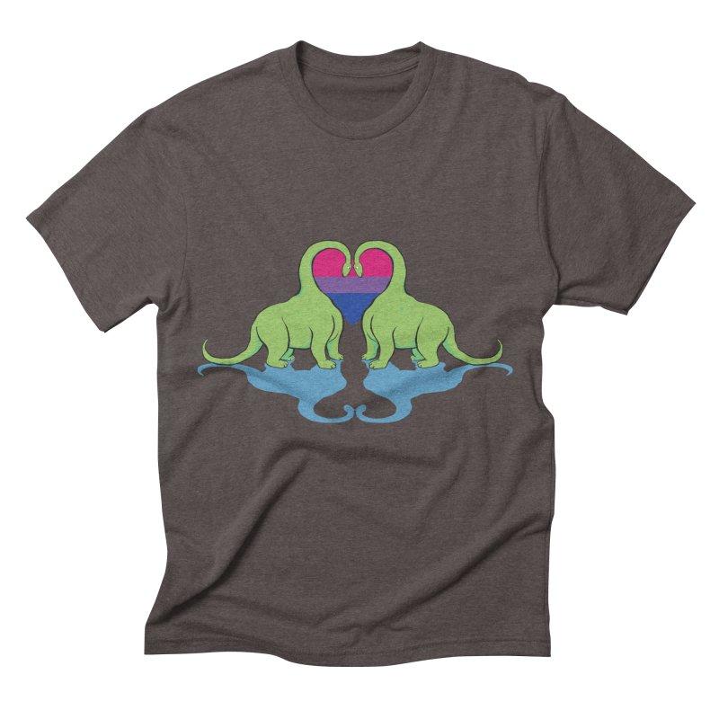 Bi Pride - Dino Love Men's Triblend T-shirt by alrkeaton's Artist Shop