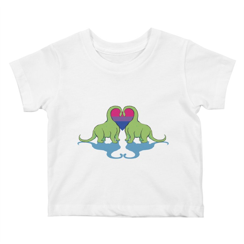 Bi Pride - Dino Love Kids Baby T-Shirt by alrkeaton's Artist Shop