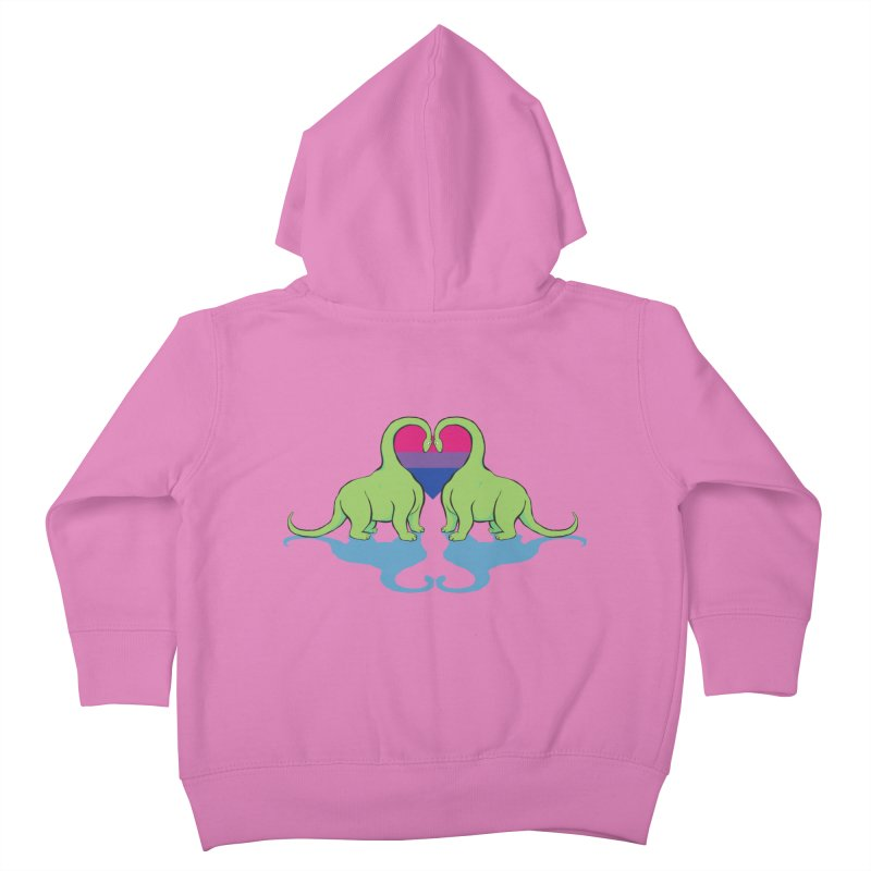 Bi Pride - Dino Love Kids Toddler Zip-Up Hoody by alrkeaton's Artist Shop