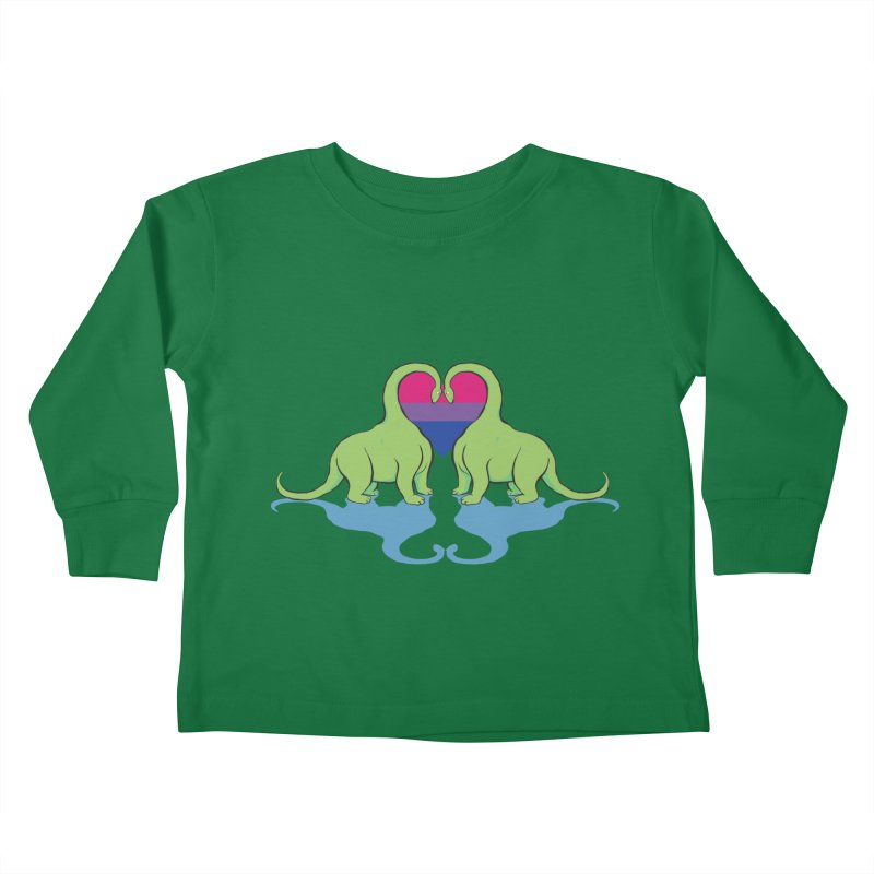 Bi Pride - Dino Love Kids Toddler Longsleeve T-Shirt by alrkeaton's Artist Shop