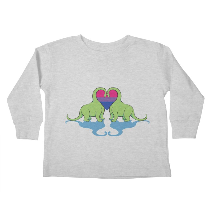 Bi Pride - Dino Love Kids Toddler Longsleeve T-Shirt by alrkeaton's Artist Shop
