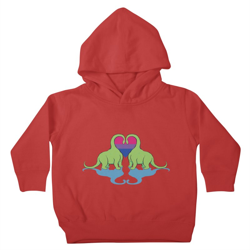Bi Pride - Dino Love Kids Toddler Pullover Hoody by alrkeaton's Artist Shop