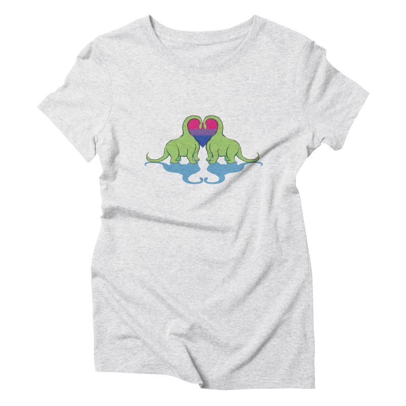 Bi Pride - Dino Love Women's Triblend T-Shirt by alrkeaton's Artist Shop