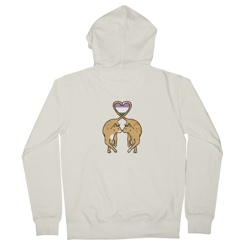 Genderqueer Pride - Love Cats Women's Zip-Up Hoody by alrkeaton's Artist Shop