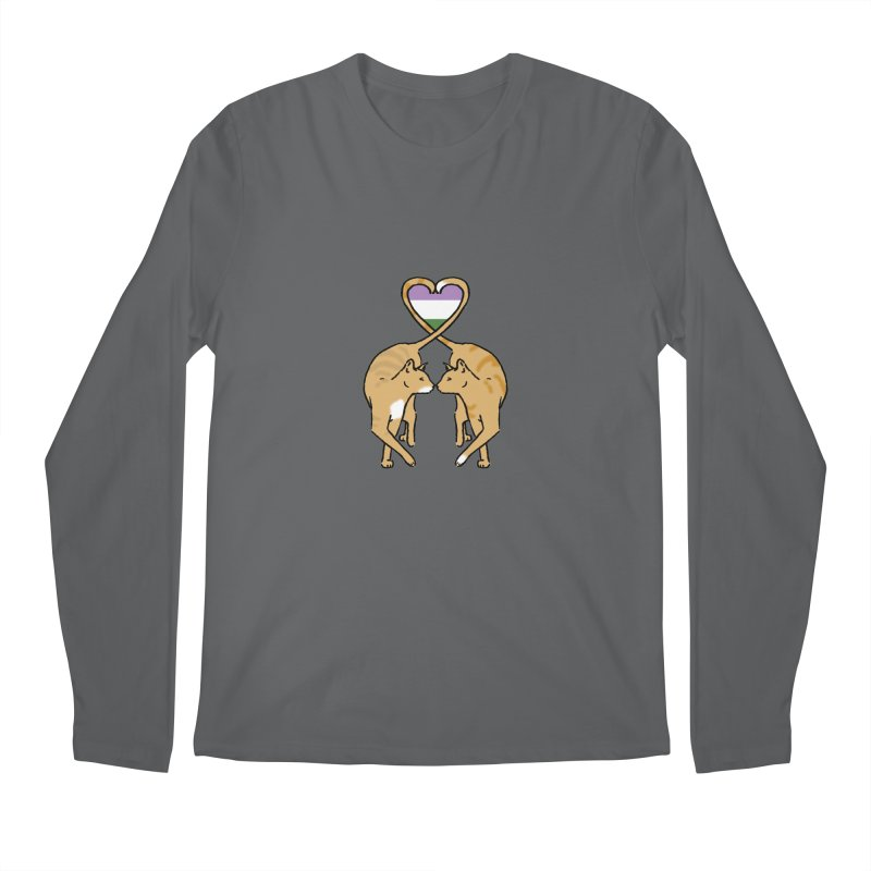 Genderqueer Pride - Love Cats Men's Longsleeve T-Shirt by alrkeaton's Artist Shop