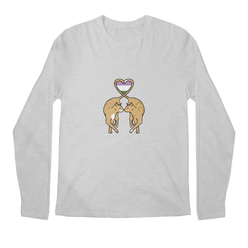 Genderqueer Pride - Love Cats Men's Longsleeve T-Shirt by alrkeaton's Artist Shop