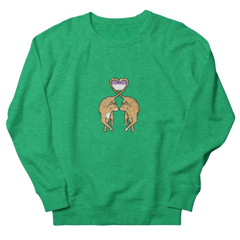 Genderqueer Pride - Love Cats Women's French Terry Sweatshirt by alrkeaton's Artist Shop