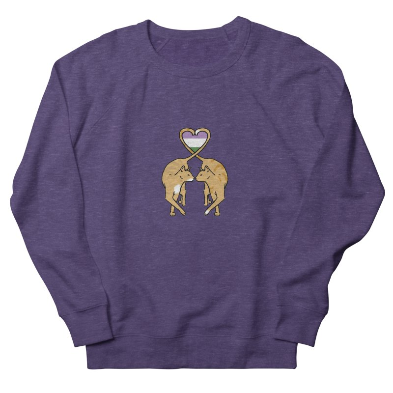 Genderqueer Pride - Love Cats Men's Sweatshirt by alrkeaton's Artist Shop