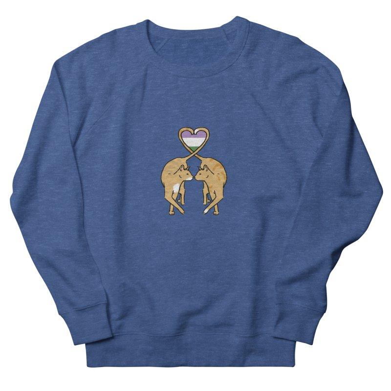 Genderqueer Pride - Love Cats Men's Sweatshirt by alrkeaton's Artist Shop