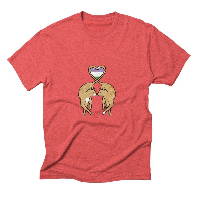 Genderqueer Pride - Love Cats Men's Triblend T-shirt by alrkeaton's Artist Shop