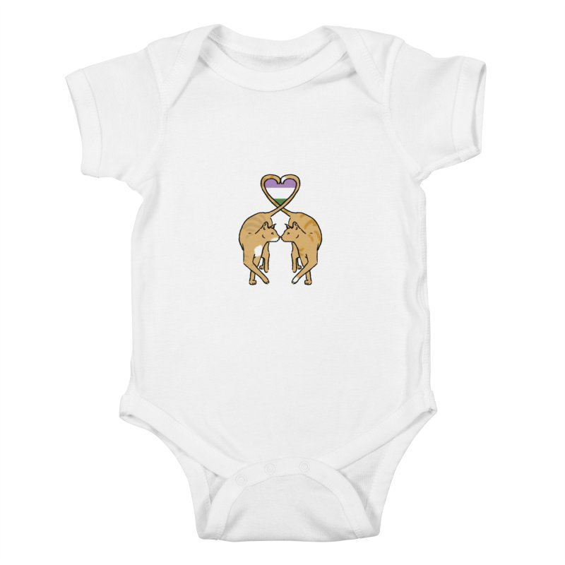 Genderqueer Pride - Love Cats Kids Baby Bodysuit by alrkeaton's Artist Shop