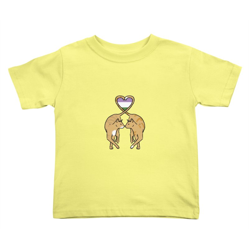 Genderqueer Pride - Love Cats Kids Toddler T-Shirt by alrkeaton's Artist Shop