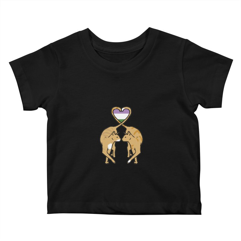 Genderqueer Pride - Love Cats Kids Baby T-Shirt by alrkeaton's Artist Shop