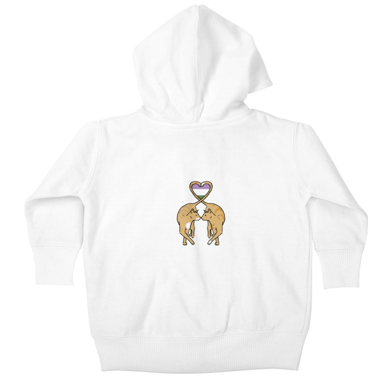 Genderqueer Pride - Love Cats Kids Baby Zip-Up Hoody by alrkeaton's Artist Shop