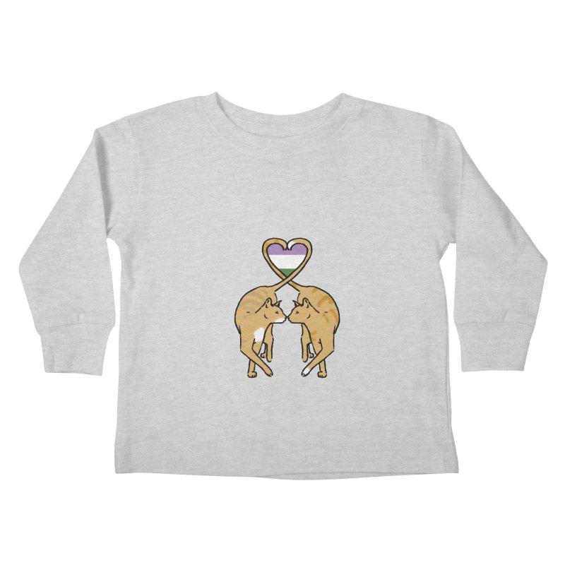 Genderqueer Pride - Love Cats Kids Toddler Longsleeve T-Shirt by alrkeaton's Artist Shop