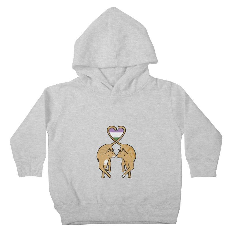 Genderqueer Pride - Love Cats Kids Toddler Pullover Hoody by alrkeaton's Artist Shop