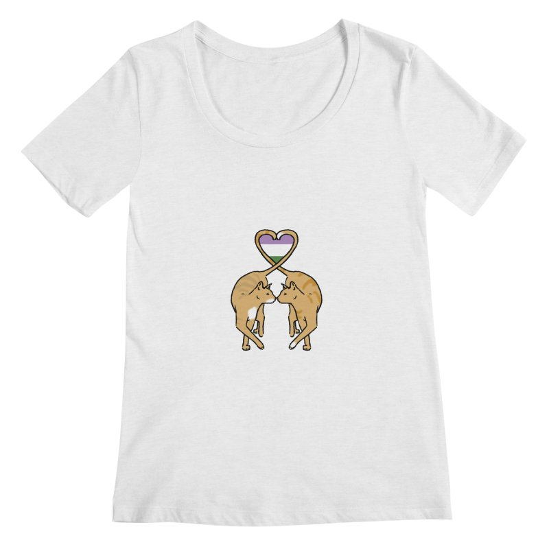 Genderqueer Pride - Love Cats Women's Regular Scoop Neck by alrkeaton's Artist Shop